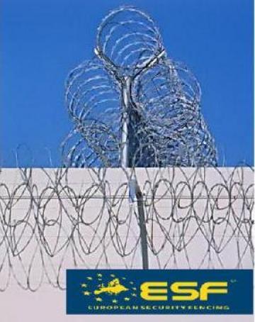 Sarma concertina cu lame NATO pentru garduri