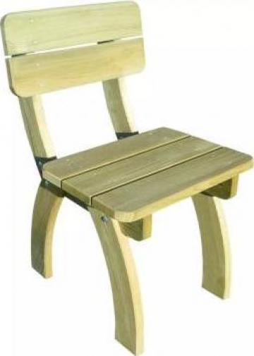 Scaun de gradina din lemn de pin tratat