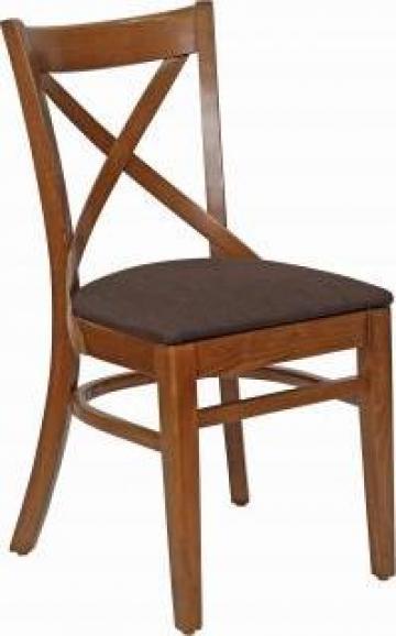Scaun din lemn cu tapiterie Oxford