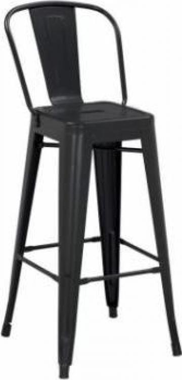 Scaun pentru bar Antique 46x43x107cm Black Matte lemn/metal