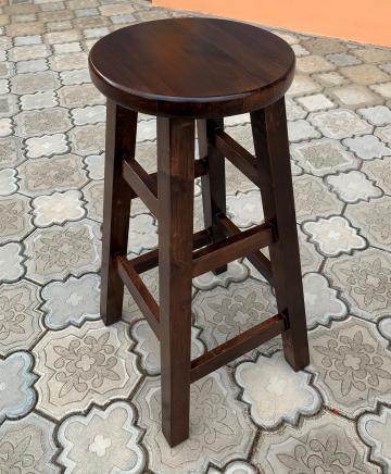 Scaun/taburet inalt- lemn masiv- bar, cafenea, pub, bistro