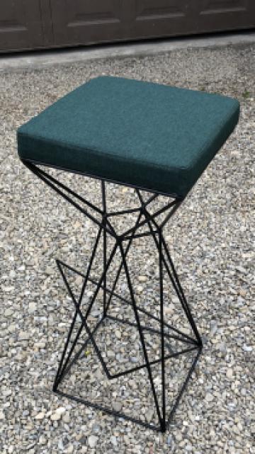 Scaune/scaun de bar metalice, lemn masiv, bistro-horeca