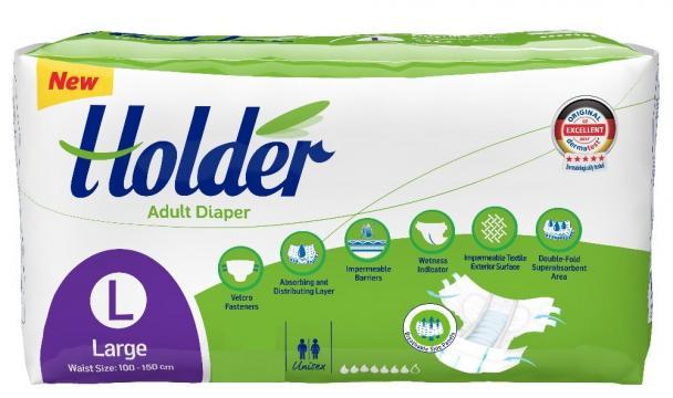 Scutece adulti Holder, marimea L - Large, 30 buc/set