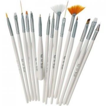 Set 15 pensule pentru unghii cu acryl si gel
