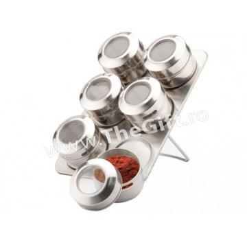 Set pentru condimente, cu suport magnetic