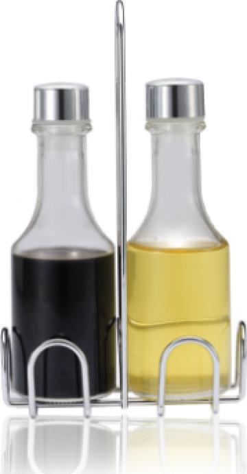 Set ulei maslina si otet Eko Line 2 piese suport inox N-8051