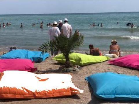 Sezlonguri saltele perne PUF (beanbag) pentru plaja, piscina