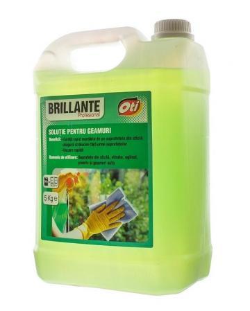 Solutie pentru geamuri Brillante Profesional - 5 litri