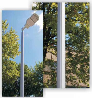 Stalp iluminat aluminiu decorativ 3-5m II