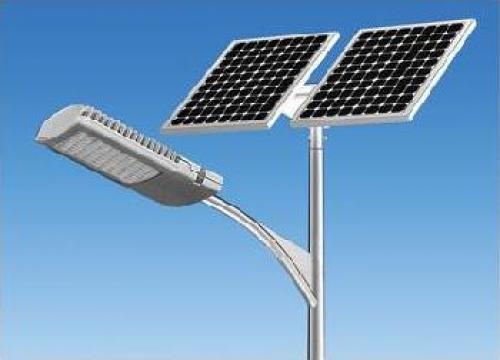 Stalp iluminat parcuri panou solar fotovoltaic PLG84W