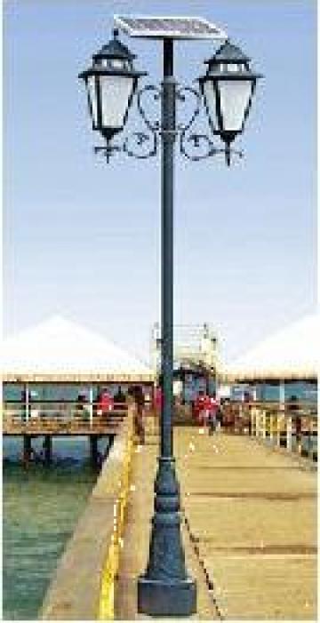 Stalp iluminat parcuri panou solar fotovoltaic PLGS12 30W