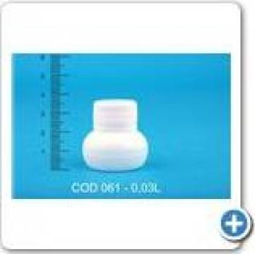 Sticluta plastic la 0,03 l cu dop FI 28