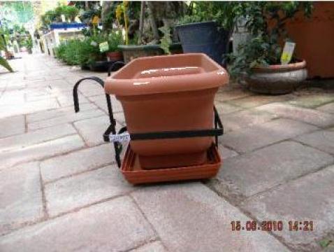 Suport jardiniera 40 cm cu agatatori