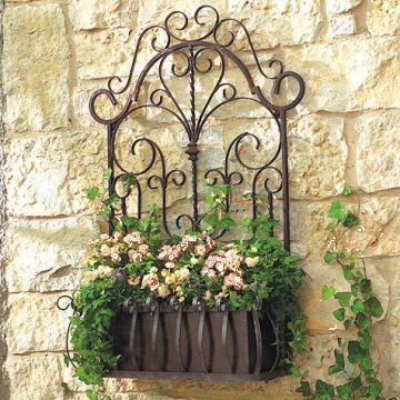 Suport jardiniera flori, din fier forjat manual 70x45cm