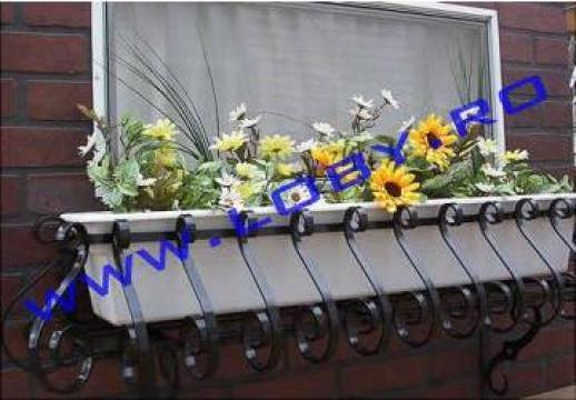Suport jardiniere flori din fier forjat Clasic