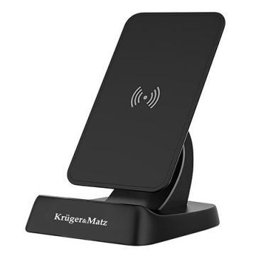 Suport telefon mobil cu incarcator wireless K&M