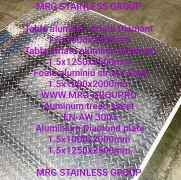Tabla aluminiu 1.5mm Diamant striata cu striatii Diamond