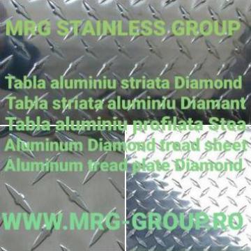 Tabla aluminiu striata Diamond 1.5x1000x2000 antiderapanta