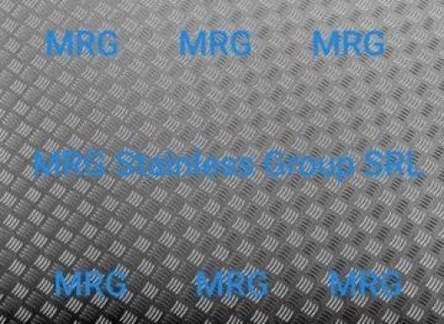Tabla aluminiu striata Quintett 3x1500x3000mm Diamond inox