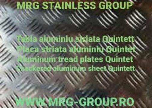 Tabla aluminiu striata Quintett 4x1500x3000mm antialunecare