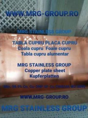 Tabla cupru 6x1000x2000 tabla rulou teava bara rotunda sarma