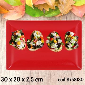 Tava ceramica, platou servire 30x20x2,5 cm - Ming II