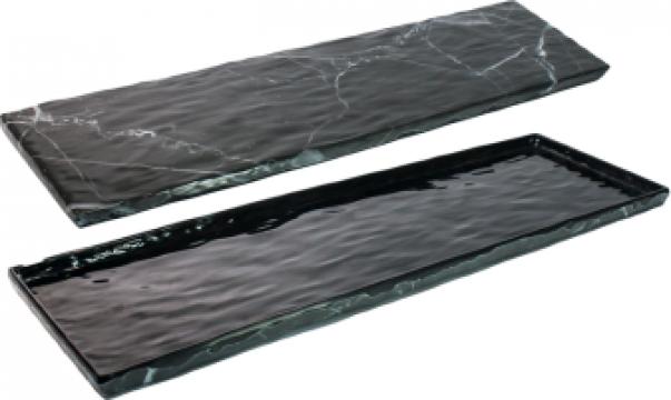 Tava servire dreptunghiulara din melamina Marble 16,3x53x1cm