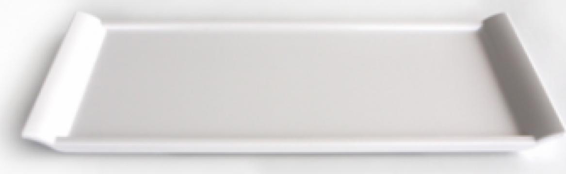 Tava servire melamina Raki 15x35x1cm alb
