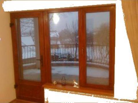 Termopan pe profil de lemn de stejar usa+fereastra