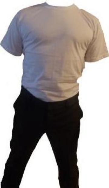 Tricou alb cu maneca scurta de vara