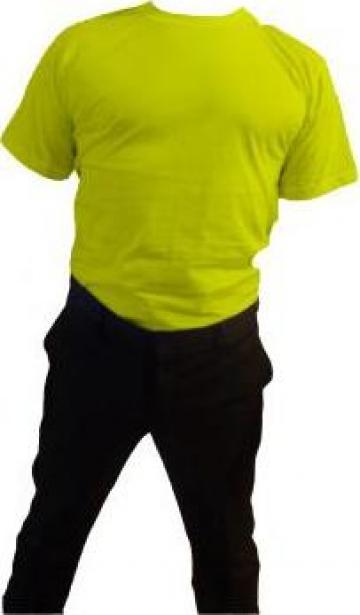 Tricou galben cu maneca scurta