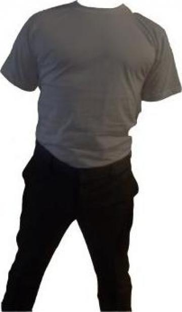 Tricou negru cu maneca scurta bumbac 100%