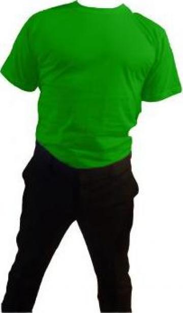 Tricou verde 100% bumbac maneca scurta