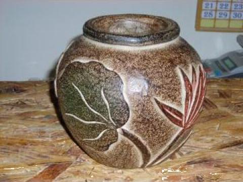 Vaza din lemn
