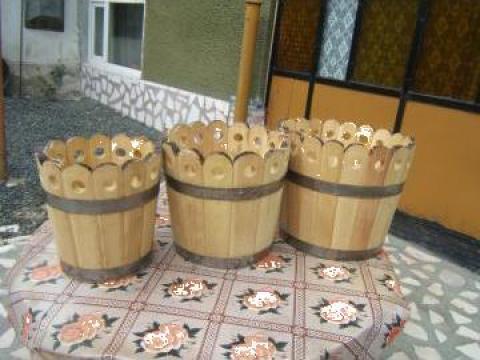 Vaze de flori din lemn
