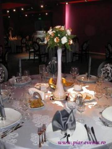 Vaze inalte cu oglinda si pietricele decorative