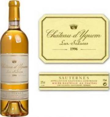Vin Sauternes Chateau d' Yquem blanc 1996